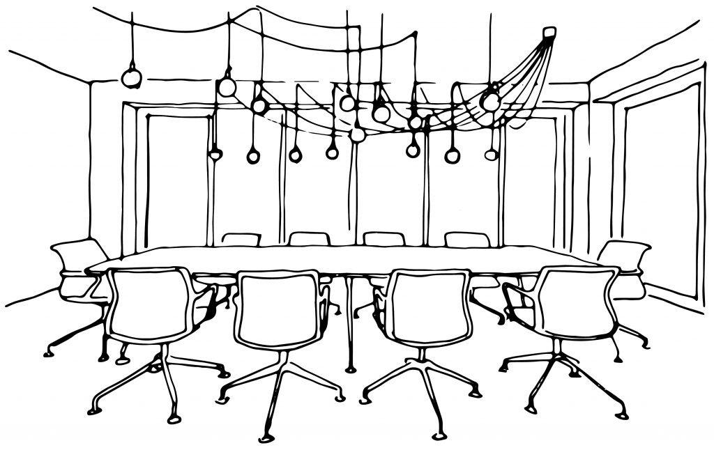 Freisberg Zeichnung Raum 2